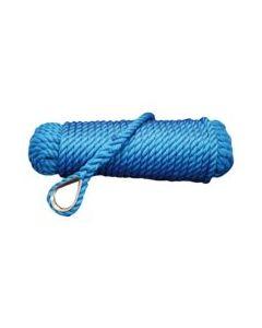 Drijvende ankerlijn blauw Ø10 - 20 mtr